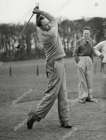 Ian Roberts Driving Off During The Edinburgh Inter-club Golf Tournament Bruntsfield Scotland. Box 663 327011627 A.jpg.