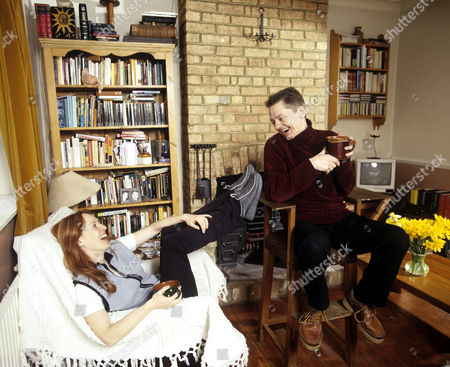 Jack Wild and girlfriend Claire Harding at home