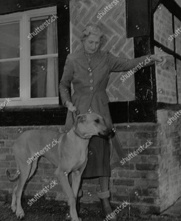 Mrs Dorothy Loyd At Betterton House In Berkshire Which She Is Moving Out Of When Her Son Christopher Loyd And His Bride (nee: Joanna Smith-bingham) Return From Honeymoon. Box 668 210021613 A.jpg.