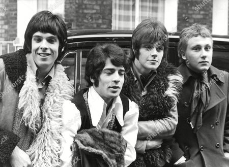 Four Members Of The Love Affair Pop Group (l-r) Lynton Guest (organ) Rex Brayley (guitar) Mick Jackson (bass) And Steve Ellis (vocals). Drummer Maurice Bacon Is Not In The Photo. Box 669 81802167 A.jpg.