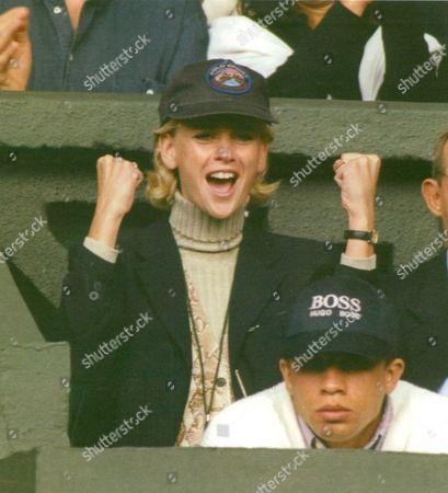 Daphne Deckers Girlfriend Of Tennis Player Richard Krajicek Pictured At Wimbledon. Box 670 10103161 A.jpg.