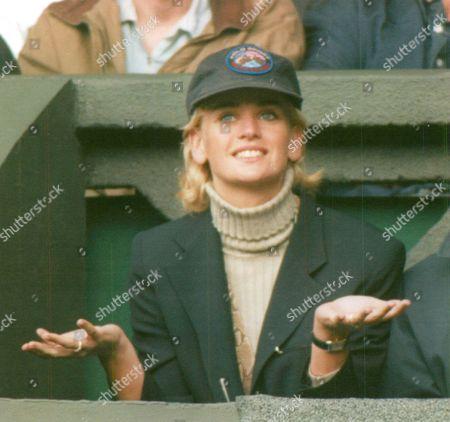 Daphne Deckers Girlfriend Of Tennis Player Richard Krajicek Winner Of The Men's Singles Final At Wimbledon 1996. Box 670 10103163 A.jpg.