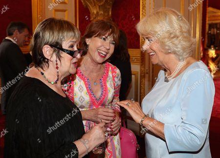 Jenni Murray, Kathy Lette and Camilla Duchess of Cornwall
