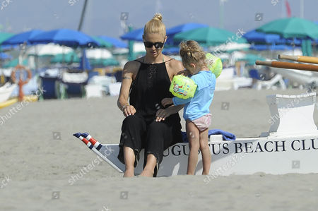 Michelle Hunziker and daughter Celeste Trussardi