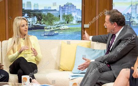 Isabel Oakeshott with Piers Morgan