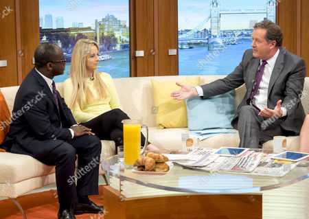 Sam Gymah and Isabel Oakeshott with Piers Morgan