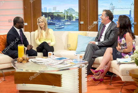 Sam Gymah and Isabel Oakeshott with Piers Morgan and Susanna Reid