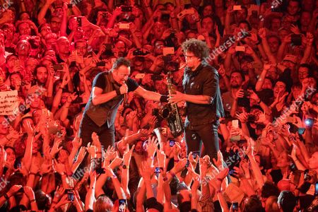 Bruce Springsteen and Jake Clemons