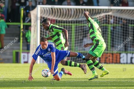 Cardiff City's Federico Macheda during the Pre-Season Friendly match between Forest Green Rovers and Cardiff City at the New Lawn, Forest Green