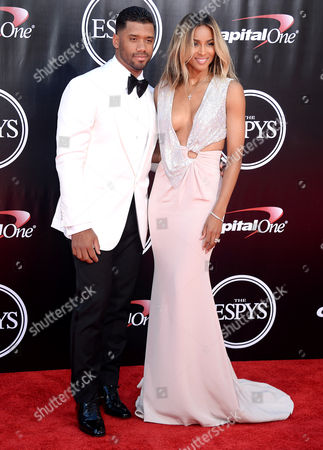 Stock Image of Ciara, Russelll Wilson