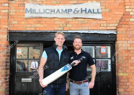 Lewis Moody poses with Millichamp and Hall owner Rob Chambers.