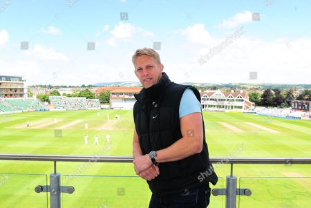 Lewis Moody poses for a photo overlooking the County ground.