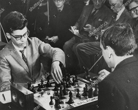 Brazilian Chess Player Henrique Costa Mecking (15) (left) Playing Russian Yuri Balashov (18) (right) During The 42nd Annual International Chess Congress. Box 671 408031612 A.jpg.