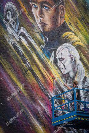 Editorial photo of 'Star Trek Beyond' street mural photocall, London, UK - 14 Jul 2016