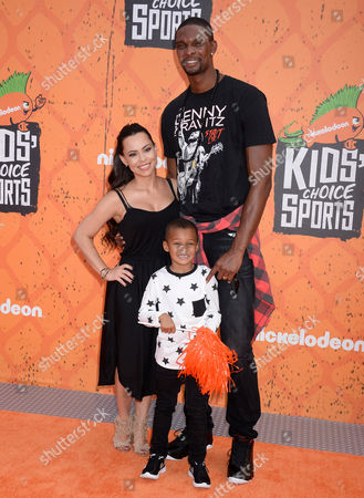 Chris Bosh, Adrienne Williams and son