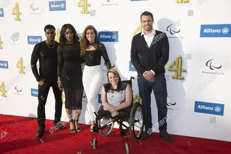 (L-R) Duayne Boachie, Rachel Adedeji, Nikki Sanderson, Amy Conachan, Jamie Lomas.