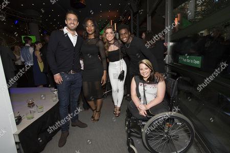(L-R) Jamie Lomas, Rachel Adedeji, Nikki Sanderson, Duayne Boachie, Amy Conachan