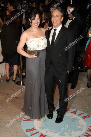 Tracey McShane and Jon Stewart