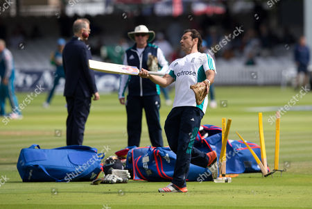 Stock Photo of Mark Ramprakash during Day Three of the 1st Investec Test Match between England and Pakistan played at Lord's Cricket Ground, London on July 16th 2016