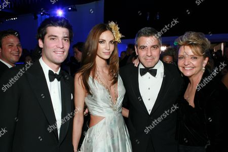 Alejandro Santo Domingo, Eugenia Silva and George Clooney
