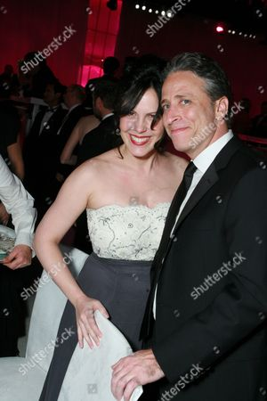 Stock Picture of Jon Stewart and wife Tracey McShane