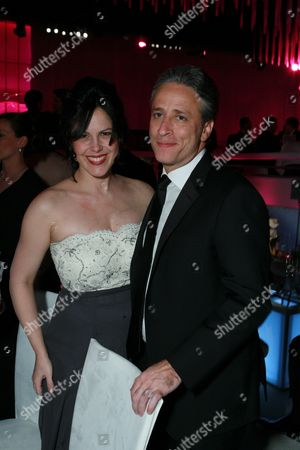 Stock Image of Jon Stewart and wife Tracey McShane