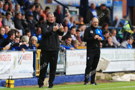 Stockport County manager Jim Gannon and Rochdale manager Keith Hill