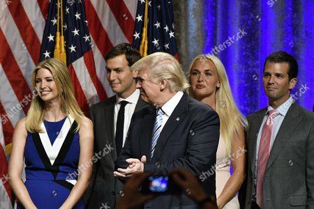 Donald Trump, Ivanka Trump, Jared Kushner, Vanessa Haydon Trump