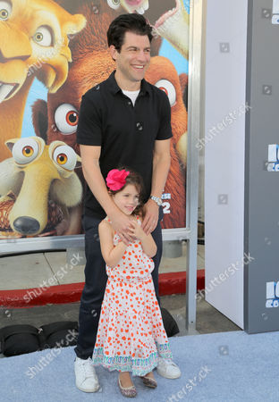 Stock Picture of Max Greenfield and Lilly Greenfield