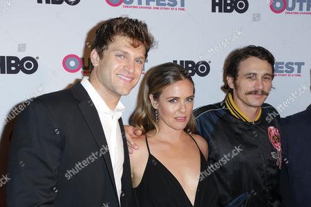 Keegan Allen, Alicia Silverstone and James Franco