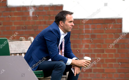 Michael Vaughan takes a moment during Day Four of the 1st Investec Test Match between England and Pakistan played at Lord's Cricket Ground, London on July 17th 2016