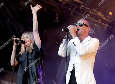 James Lavelle from UNKLE with Liela Moss from the The Duke Spirit