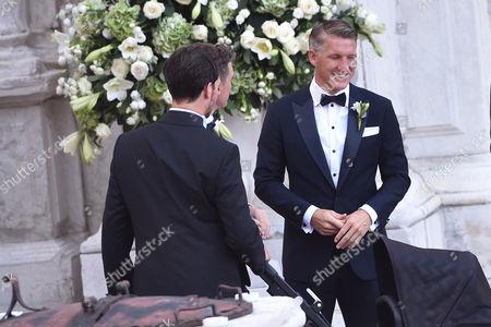 Bastian Schweinsteiger, brother Tobias Schweinsteiger and son Liam