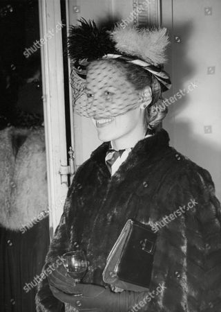 Editorial image of Hon. Mrs Graeme Parish At A Reception At The Argentine Embassy. (hon. Monica Taylor Daughter Of Alfred Jesse Taylor 1st Baron Grantchester. She Married Graeme Parish Son Of George Parish On 31 March 1951.) Box 675 429031649 A.jpg.