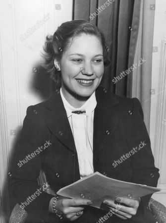 Hon. Monica Taylor Daughter Of Alfred Jesse Taylor 1st Baron Grantchester. She Married Graeme Parish Son Of George Parish On 31 March 1951. Box 675 52903161 A.jpg.