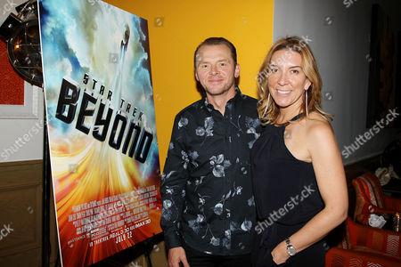 Simon Pegg and Antonia Romeo