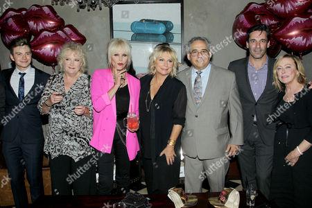 Chris Colfer, Mandie Fletcher (Director), Joanna Lumley, Jennifer Saunders, Steve Gilula, Jon Hamm, Nancy Utley
