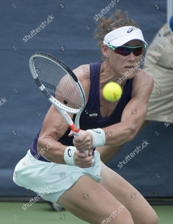 Samantha Stosur (AUS) defeated Alla Kudryavtseva (RUS) 6-3, 6-0, at the Citi Open being played at Rock Creek Park Tennis Center in Washington, DC
