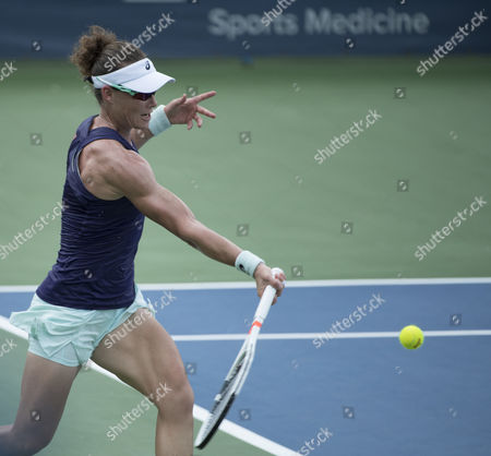 Stock Photo of Samantha Stosur (AUS) defeated Alla Kudryavtseva (RUS) 6-3, 6-0, at the Citi Open being played at Rock Creek Park Tennis Center in Washington, DC