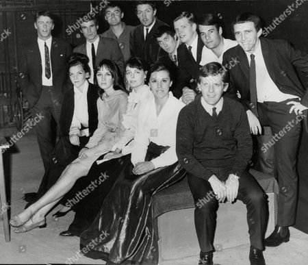 Glasgow Drama Students At The Royal Court Theatre. (l-r) Jon Jule Robin Lefevre Boyd Mackenzie Roy Sampson Alun Craig Stuart Mcgugan Peter Lincoln Michael Harrigan Ian Stirling. (the Ladies) (l-r) Romy Wright Jean Fisher Eileen Nicholas And Edith Reid. Box 674 324031610 A.jpg.