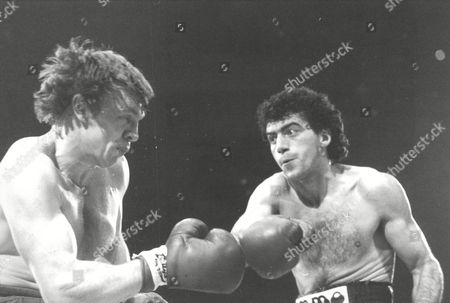Tony Sibson (l) Takes A Blow From Nicola Cirelli. Sibson Won The Fight. European Middleweight Title At Wembley Arena. Box 674 32403164 A.jpg.