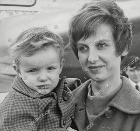 Mrs Pamela Morgan And Son Richard Arrive Back In Britain From Peking After The Red Guard Took Over The British Embassy There. Her Husband Is Employed As A Clerical Officer At The British Mission In Peking. Box 676 401041631 A.jpg.