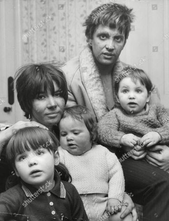 Cliff Adams Manager/agent To Pop Stars Georgie Fame Alan Price And Chris Farlowe With Is Wife Michele And Their Children After Being Rescued From Their Flat In Putney Which It Caught Fire. Box 677 905041623 A.jpg.