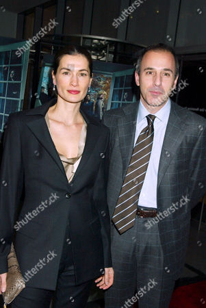 Matt Lauer and wife Annette Roque Lauer