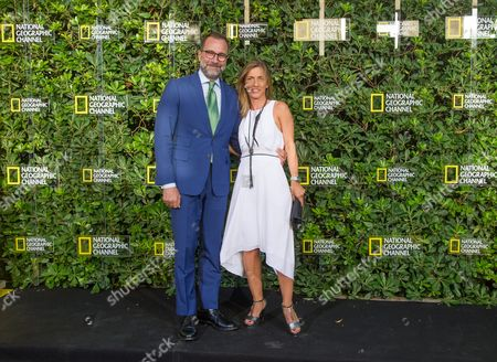 US Embassador to Spain James Costos and National Geographic Channel Director Vera Pinto