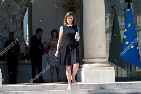 French Junior Minister for Victims Aid Juliette Meadel leaves a cabinet meeting at the Elysee Presidential Palace in Paris