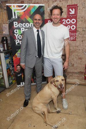 Gary Condes & Jez Bond (Artistic Director) & Hazel (dog)