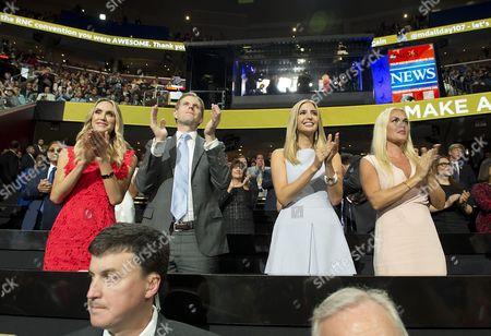 Lara Yunaska, Eric Trump, Ivanka Trump and Vanessa Haydon Trump