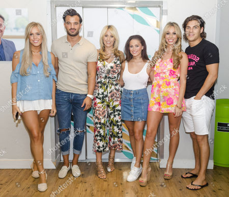 Chloe Meadows, Michael Hassini, Kate Wright, Courtney Green, Amber Dowding, Chris Clark - TOWIE