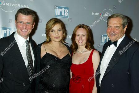 Kevin Riley, Mariska Hargitay, Noelle Lippman and Dick Wolf